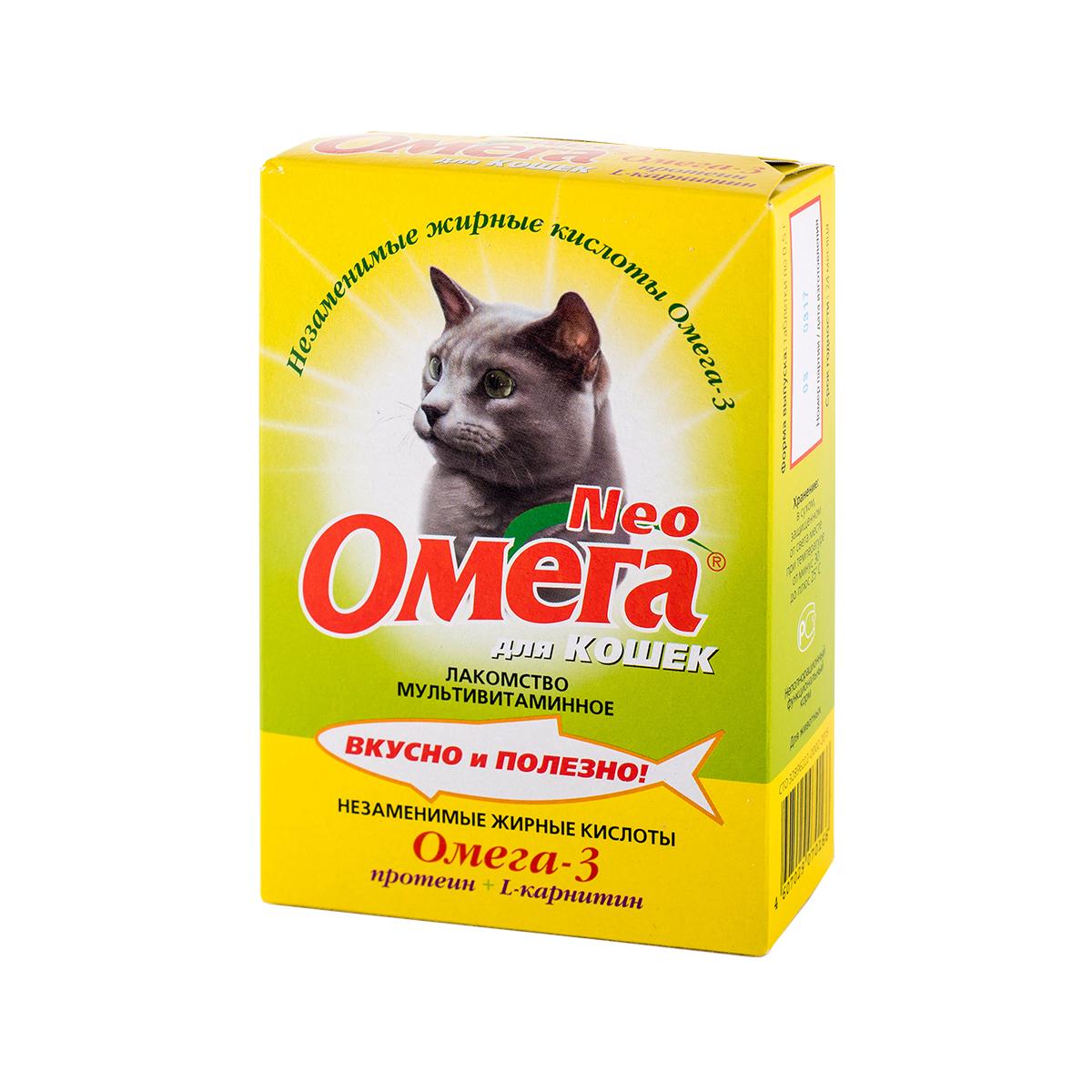 Омега Neo для кошек с протеином и L-карнитином